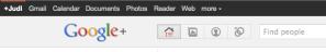 Google+ bar