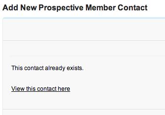 Contactexists
